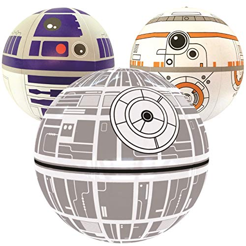 Star Wars Party Supplies Clearance (Nino-star Large Beach Ball Set of 3 - Pool Inflatable Water Toys - Fun Summer)