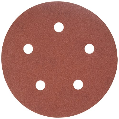 PORTER-CABLE 735501825 5-Inch Hook and Loop Ao 5 Hole 180G Disc (25-Pack)