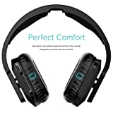 RIF6 Wireless Headphones for TV with RF Transmitter for Watching and Listening - Digital Over Ear Cordless TV Headphones Rechargeable 20 Hour Battery and Charging Dock also for Hard of Hearing (Black)