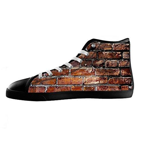 Tetto Delle Custom I Ginnastica Shoes Canvas Da Women's Di Scarpe Muro Mattoni Alto Lacci Struttura Del BwqABnfp