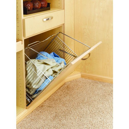 Rev-A-Shelf Closet Tilt Out Hamper Basket Crome 21-5/8