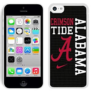 Grace Protactive Iphone 5c Case Design with Alabama Crimson Tide White Cell Phone Case for Iphone 5c