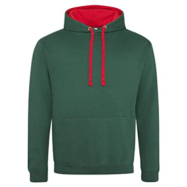 Just Hoods Varsity - Sudadera unisex con capucha, dos colores, mujer, Just Hoods
