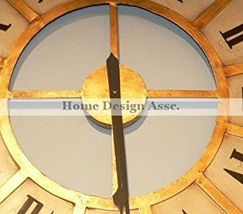 Extra Large 45 Oversize White Gold Train Station Wall Clock Iron