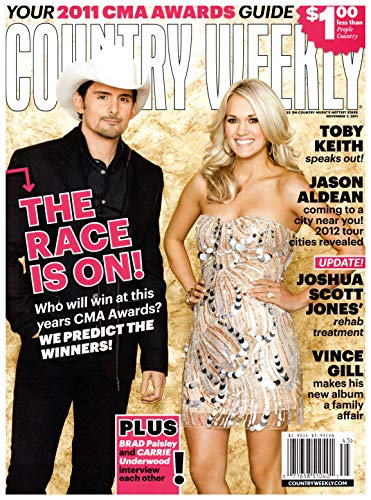 Country Weekly Magazine - Country Weekly Magazine November 7 2011 Brad Paisley Carrie Underwood The Civil Wars