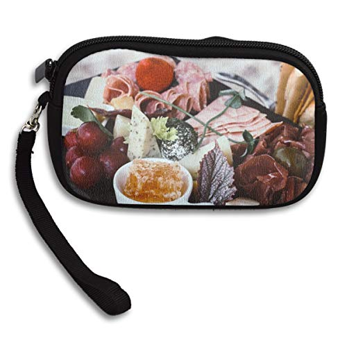 Platter Franklin - James C Franklin Fruit Platter Small Wallet, Coin Purse, Wallet with Zipper, 100% Polyester Wallet with Pattern for Mobile Phone, Bank Card, ID Card