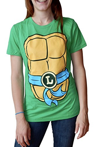 Teenage Mutant Ninja Turtles Juniors Leonardo Costume T-Shirt M]()