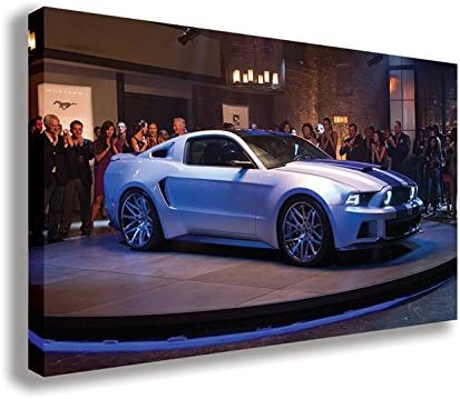 Amazon Com Need For Speed Ford Mustang Shelby Gt500 Canvas Wall