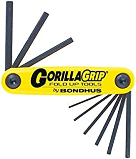 product image for Bondhus 12591 GorillaGrip Set of 9 Hex Fold-up Keys, sizes .050-3/16-Inch