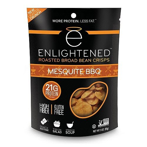 Mesquite Bean - Enlightened Roasted Broad Bean Crisps - Mesquite BBQ