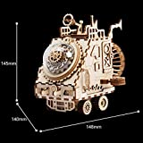 ROBOTIME Wooden 3D Puzzle Robot Space Vehicle Craft Kit DIY Music Puzzle Box