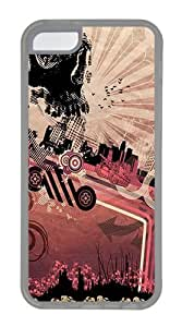 Abstract Skull City Custom Apple iPhone 5C Case TPU Case Cover Compatible with iPhone 5C Transparent by lolosakes