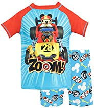 Disney Boys' Mcikey and The Roadster Racers Two Piece Swim