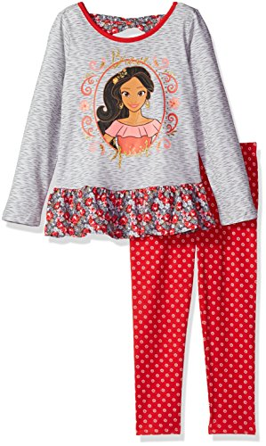 (Disney Toddler Girls' 2 Piece Elena of Avalor Space Dye Legging Set, Grey,)