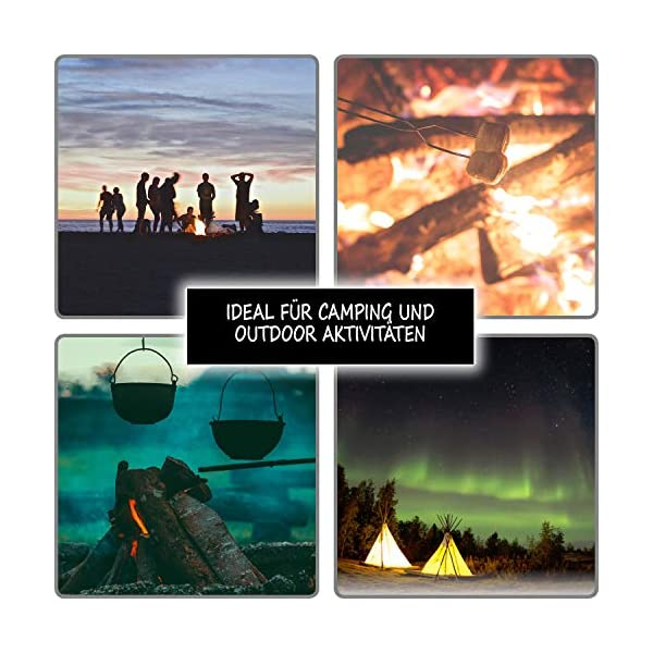 com-four® Camping Match, Partidos eternos, Partidos permanentes, Encendedor de Supervivencia con pedernal como Llavero… 2