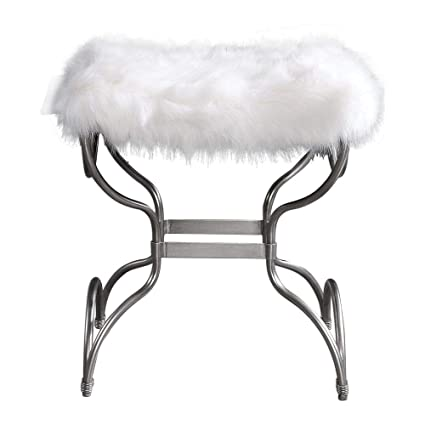 Fine Amazon Com Uttermost Fur Small Bench In White Kitchen Dining Gamerscity Chair Design For Home Gamerscityorg