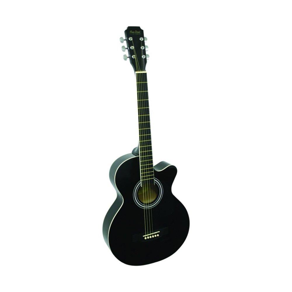 Main Street Guitars MAS38BK 38-Inch Acoustic Cutaway Guitar in Black Finish M & M Merchandisers Inc.