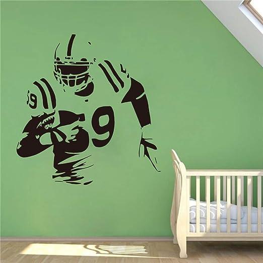 pegatina de pared pegatina de pared 3d Fútbol americano Tatuajes ...