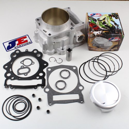 Niche Industries 1590 Yamaha Grizzly 700 734cc 105.5mm Big Bore Cylinder 10:1 JE Piston Gasket Kit - 00 Piston Kit