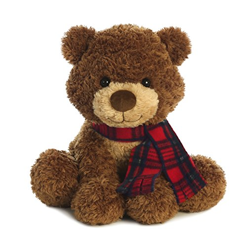 Aurora World Briar Bear Plush, Brown,