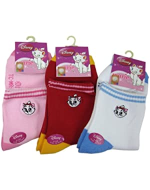 3 Piece Assorted Marie the Cat Socks (Size 6-8) - Marie the Cat Low Cut Socks