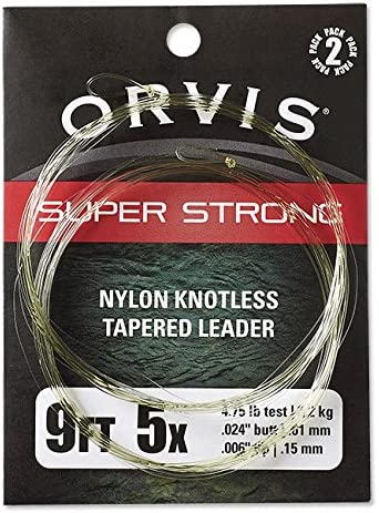 2-pack 4X 7.5 Orvis Super Strong Nylon Leaders//Only Trout 0X-6X