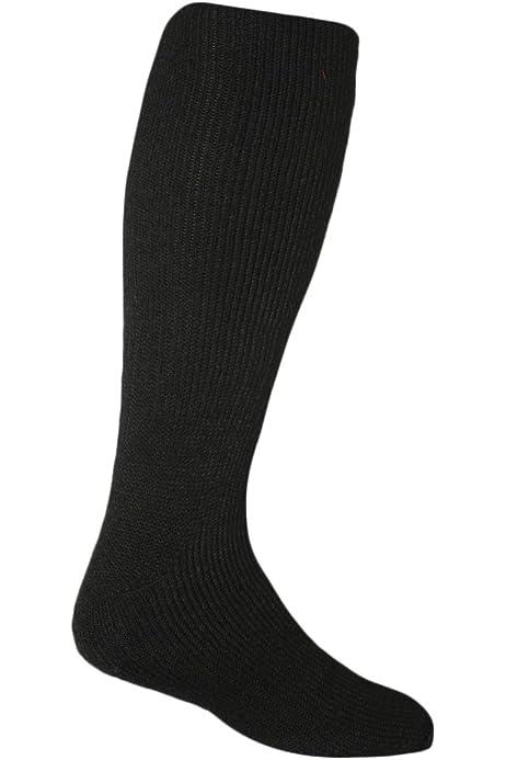 UK SIZE 11-14 3 PAIRS OF MENS BLACK THICK THERMAL BIG FOOT SOCKS 60/% COTTON