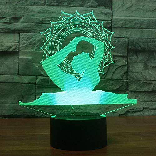 Led 3D Yoga Bailarina Luces Variables Noche De Humor Luces ...