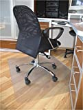 ProSource 47'' x 35'' Clear Multitask Polycarbonate Office Chair Floor Mat for Hardwood Floors (47'' x 35'' Rectangular)