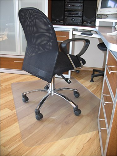 ProSource 47' x 35' Clear Multitask Polycarbonate Office Chair Floor Mat for Hardwood Floors (47' x 35' Rectangular)
