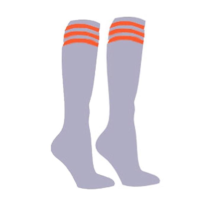 Calcetines de fútbol Samson Hosiery®, diseño a rayas, hasta las