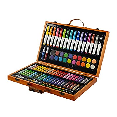 Painting & Drawing Set Children's Painting Stationery 85 Pieces Set Painting Tools Watercolor Pen Oil Painting Watercolor Art School Supplies School Gifts Gift for Beginner and Serious Artists