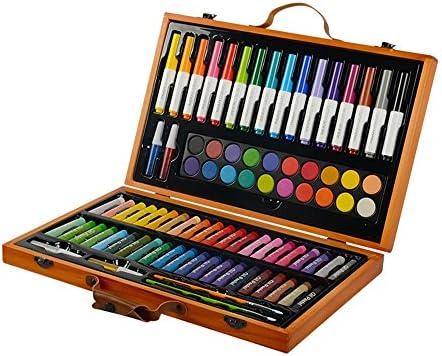 水彩毛筆 カラー筆ペン 水彩アート絵画85のペイントツール水彩ペン油の児童画文房具セットは、色とミックスに簡単用品 画材 スケッチブックイラスト