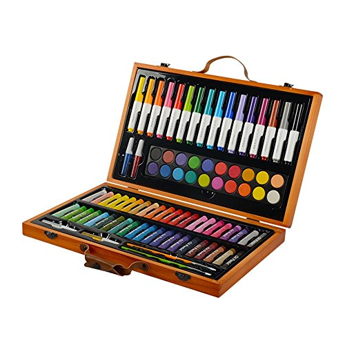 Children's Painting Stationery 85 Pieces Set Painting Tools Watercolor Pen Oil Painting Watercolor Art School Supplies School Gifts by Guodanqing