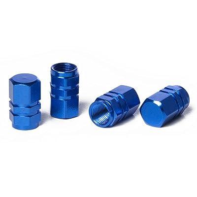 Circuit Performance VC2 Series Blue Aluminum Valve Stem Caps (Set of 4): Automotive