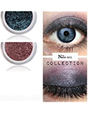 2 Eyeshadows: BROWN & BLUE 100% Organic Vegan Made in Canada BARE Natur-ALL MINERALS Eye Shadow Gluten & Bismuth FREE 100% Naturally Derived with mineral power instead of petrochemicals.