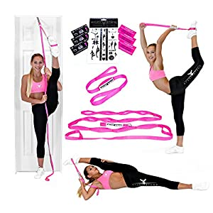 Stunt Stand BEST SELLING Door Flexibility & Stretching Leg Strap - Great for Cheer, Dance, Gymnastics or ANY Sport! FREE How-To-Use Links Included