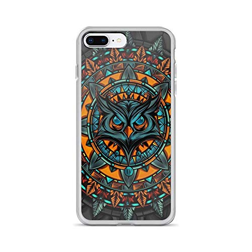 iPhone 7 Plus/8 Plus Pure Clear Case Cases Cover Owl Boho Portrait Folk Painting for $<!--$22.45-->
