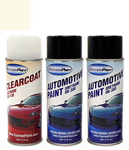 ExpressPaint Aerosol Acura TL Automotive Touch-up Paint - White Diamond Pearl Tri-coat NH-603P - All Inclusive Package
