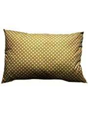 Soft Polycotton Pillow By Valentini, Beige, Queen, size 50 * 75 cm