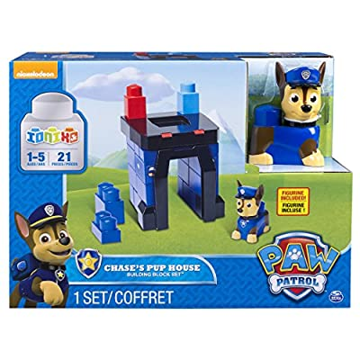 Paw Patrol - IONIX Jr. - Chase's Pup House - Building Block Set: Toys & Games