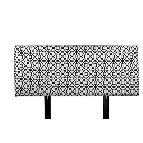 MJL Furniture Designs Alice Padded Bedroom Headboard Contemporary Styled Bedroom Décor, Noah Series Headboard, Windsor Finish, Queen Sized, USA Made ()