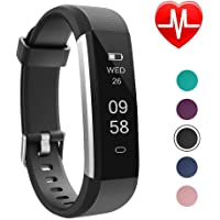 LETSCOM Fitness Tracker, Slim Activity Tracker, Smart Pedometer Watch, Sleep Monitor, Step Counter, Calorie Counter, Waterproof Fitness Watch for Android Phones, Kids Women Men