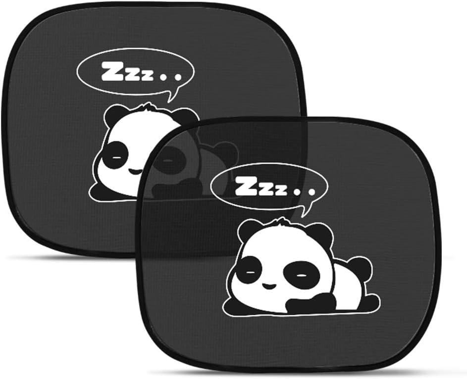 ANKOUJA Sonnenschutz Auto Baby Kinder Sonnenblende mit UV Schutz Selbsthaftende PKW Autofenster KFZ SUVs Schwarz Panda 3 STK