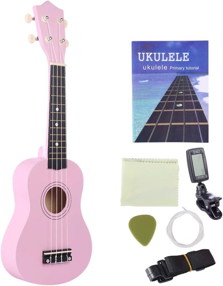 BSPAS 21 Pulgadas Madera Ukelele Kit Juguete Guitarra para ...