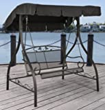 NEW Jefferson Wrought Iron Outdoor Swing, Seats 2 For Sale