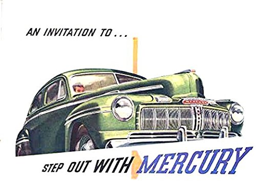 Download A MUST FOR OWNERS, RESTORERS & ENTHUSIASTS - 1946 MERCURY FULL COLOR DEALERHIP SALES BROCHURE - Includes All Mercury Coupes, Sedans, Convertible and Wagons - ADVERTISMENT - LITERATURE 46 pdf