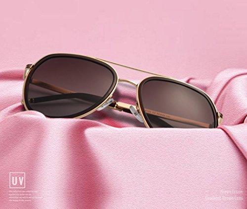polarizadas sol espejo aviador Mujer Gafas Polarizadas De sol de Marron Gafas clásicas piloto mujer Gafas de de mujer Sol sol Gris Gafas Espejo wqO074WT