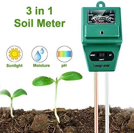 Lawn Plants Indoor /& Outdoor Farm Soil Moisture Sensor Meter,Hygrometer Moisture Sensor for Garden No Battery Needed