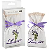 MYARO 2 Pack Lavender Scented Sachets for Drawer and Closet Gift Box